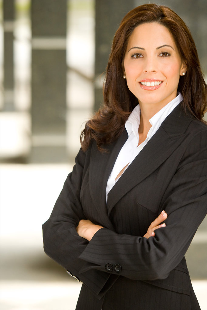 Business lady in suit by Rudy Meyers Portrait Photography