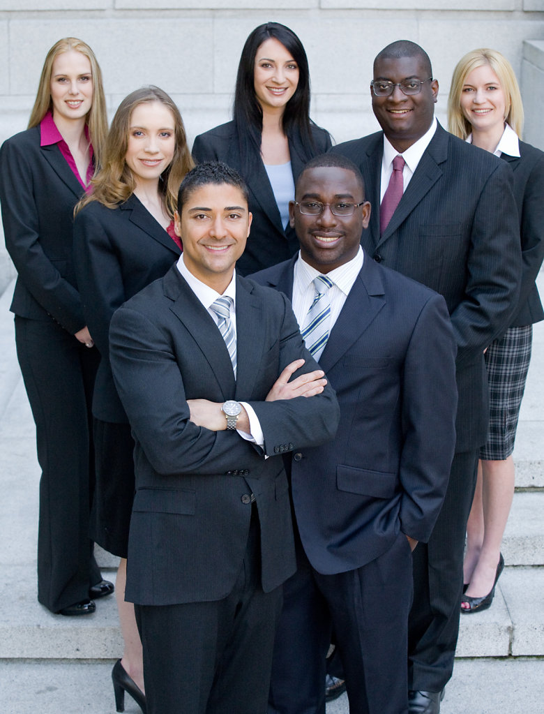 Sacramento corporate group portrait with dark suits