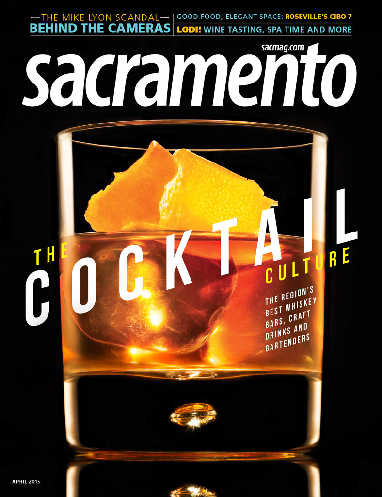 Cocktail on cover of Sacramento Magazine
