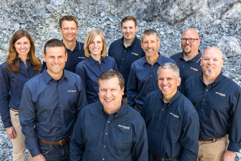 Sacramento business group portrait in blue casual wear