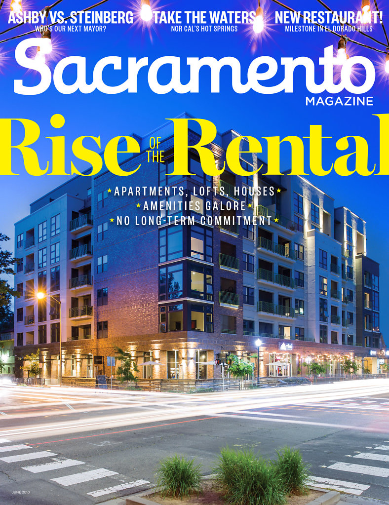 Apartment building on cover of Sacramento Magazine