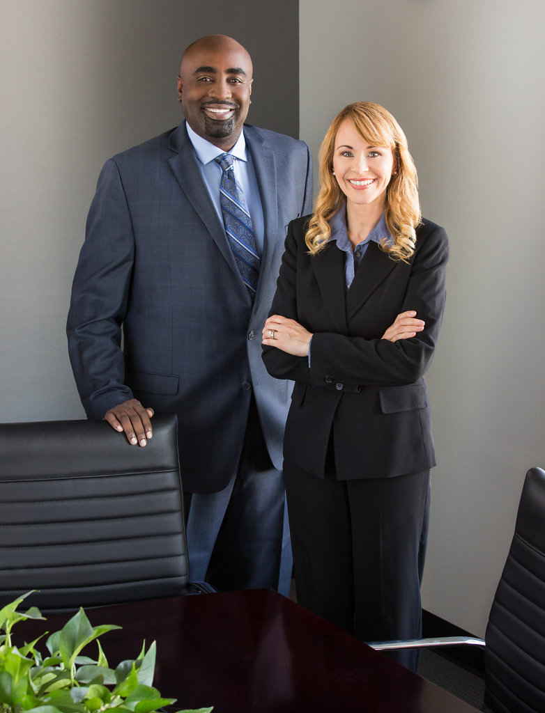 Business executives in dark suits