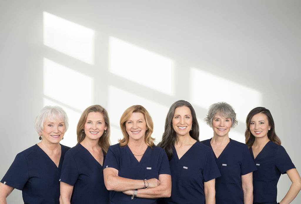 Sacramento women doctors in scrubs portrait